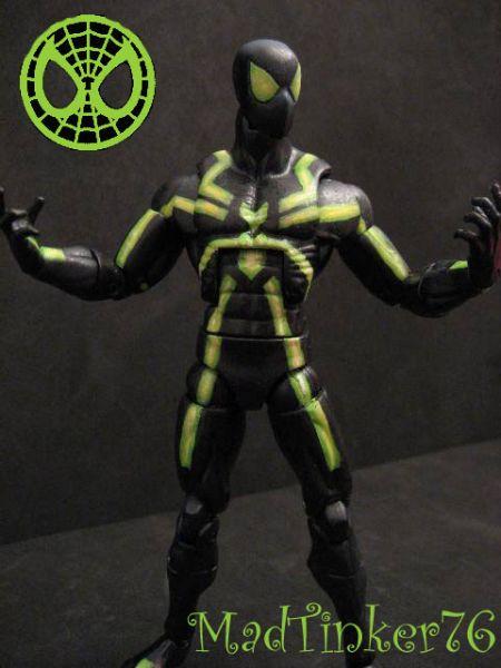 neon green spiderman